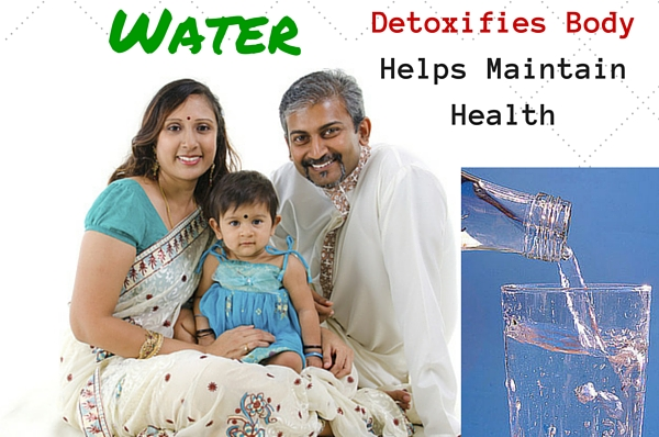 Healthy Indian Family - Water Detoxifies Body & Helps Maintain Health