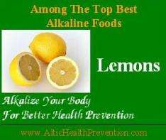 Lemons: Among the top best alkaline foods; alkalize your body for better health prevention - www.altichealthprevention.com