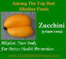 Zucchini: Among the top best alkaline foods; alkalize your body for better health prevention - www.altichealthprevention.com