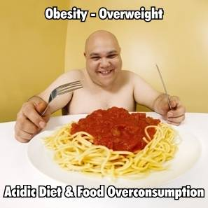 Acidic diet and food overconsumption: top causes of obesity-overweight