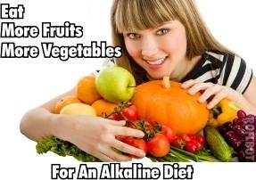 A healthy nutrition supposes an alkaline diet enriched with nutritional supplements